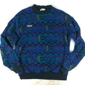 Vintage Columbia Aztec Southwestern Fleece Sweater